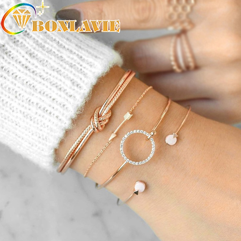 4pcs 2019 Trendy Bracelet Set Simple