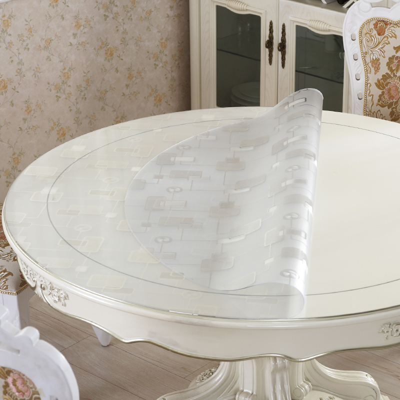Pvc Waterproof Toalha De Mesa Plastic Round Tablecloth Mantel Cover Nappe Table Cloth