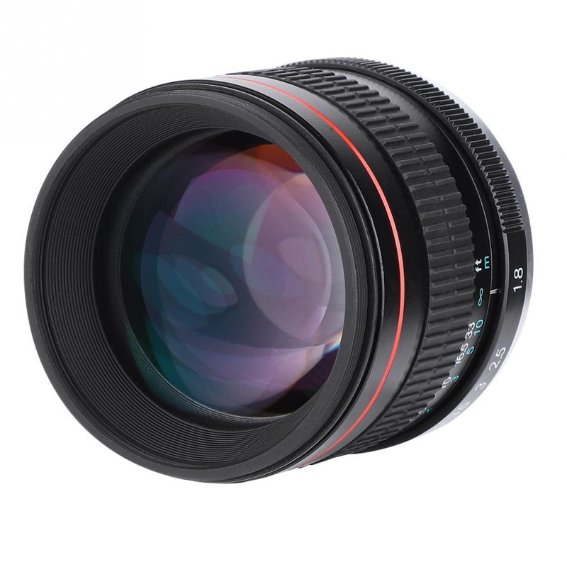 85mm F1.8 Medium Telephoto Manual  Full Frame Prime Lens For DSLR Cameras Professional High Quality New 2018