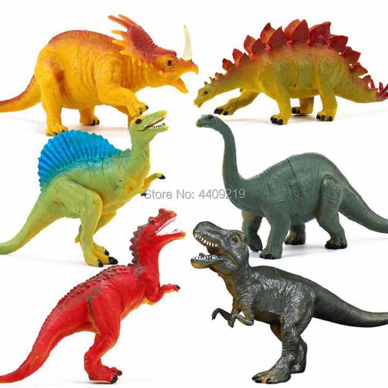 21 estilos de ação & brinquedo figuras modelo brachiosaurus plesiossauro tiranossauro dragão dinossauro coleção animais modelo brinquedos