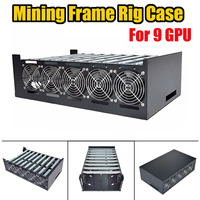 Brand New Crypto Coin Open Air Miner Mining Frame Rig Graphics Case For 9 GPU ETH BTC Horizontal Computer Server Machine Chassis