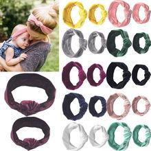 2PCS Set Mom Mother and Daughter Kids Baby Girl Knot Headban