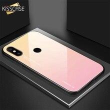 KISSCASE Gradient Colorful Phone Case For Xiaomi 9 8 A1 A2 Max 3 Tempered Glass Redmi 6 6A Note 4X 5 Plus Pro Fundas