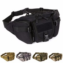 Men Waterproof 1000D Nylon Waist Fanny Pack Tactical Military Sport Army Bag Hiking Fishing Hunting Camping Travel Hip Bum Belt molle leg bag military 1000d nylon tactical waist pack leg travel belt bag hiking hunting camping cycling waterproof