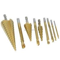 Step Cone Drill HSS Wood Plastic Steel Titanium Drill Bit Hole Cutter 4-32mm 4-20mm 4-12mm + Saw Drill 3mm 4mm 5mm 6mm 6.5mm 8mm