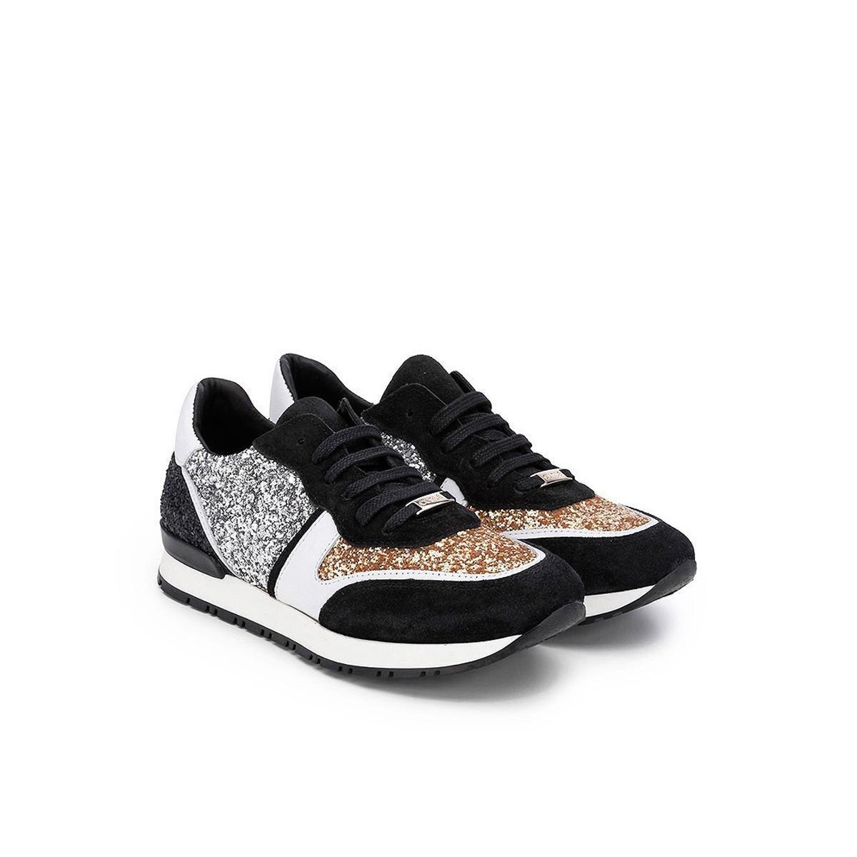 Glitter plata Oro Deportiva Mujer Zapatillas Oro Bajas Textil Cuple XxgwBCqw
