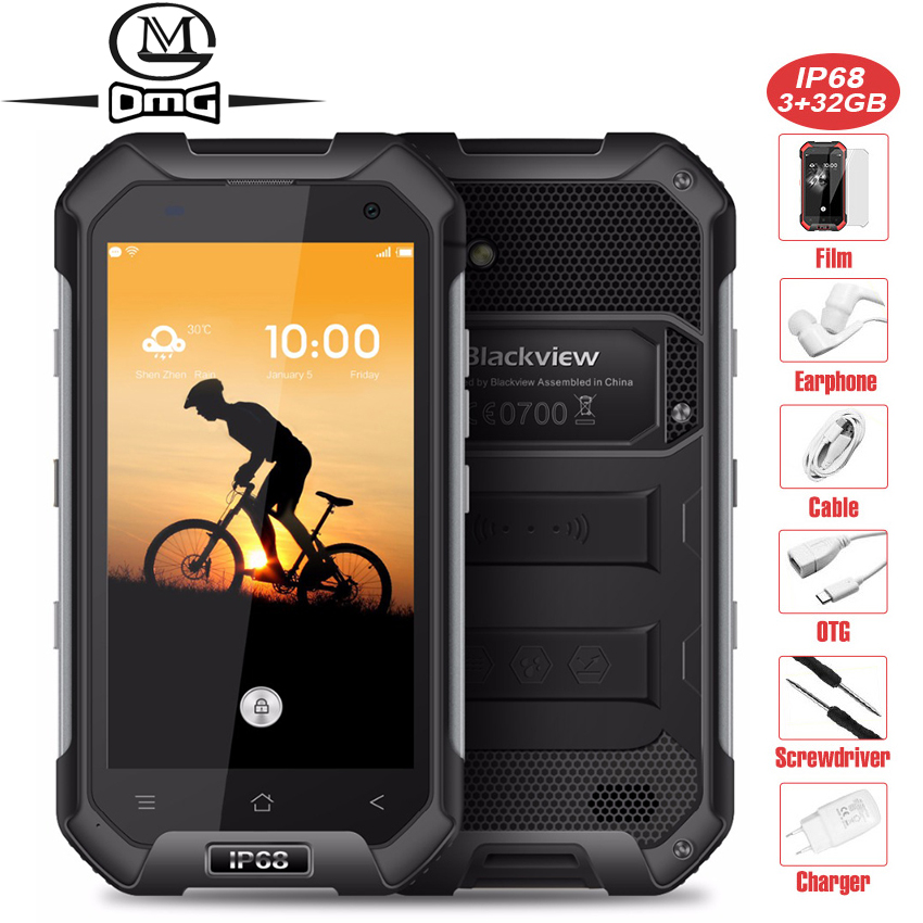 Blackview BV6000 Étanche IP68 téléphone portable 4.7 1280x720 HD MT6755 Octa base Android 6.0 3 GB + 32 GB 13MP 4G smartphone ite