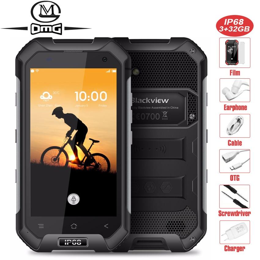 Blackview BV6000 Водонепроницаемый IP68 мобильный телефон 4,7 1280x720 HD MT6755 Octa Core Android 6,0 3 GB + 32 ГБ 13MP 4G LTE смартфон