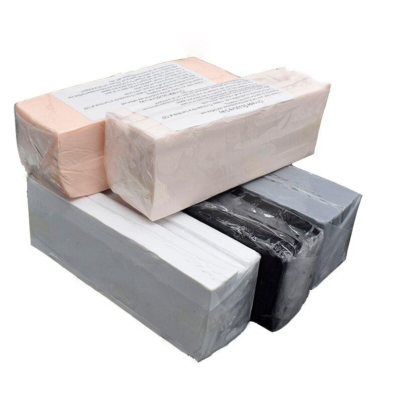 Профессиональные высококачественные Выпекание в печи Полимерная глина фигурка куклы OB гаражный Комплект Моделирование BJD лицо мягкая глинистая почва грязи 500 г/блок хорошая пластичность цвет черный белый серый кожа|Пластилины и пасты| | - AliExpress