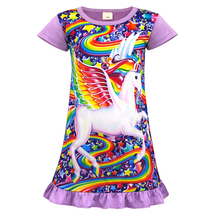 AmzBarley Baby Kids Cartoon Unicorn Dress Cotton Summer Dresses Princess dress for Girls Infantil toddler Children Clothing