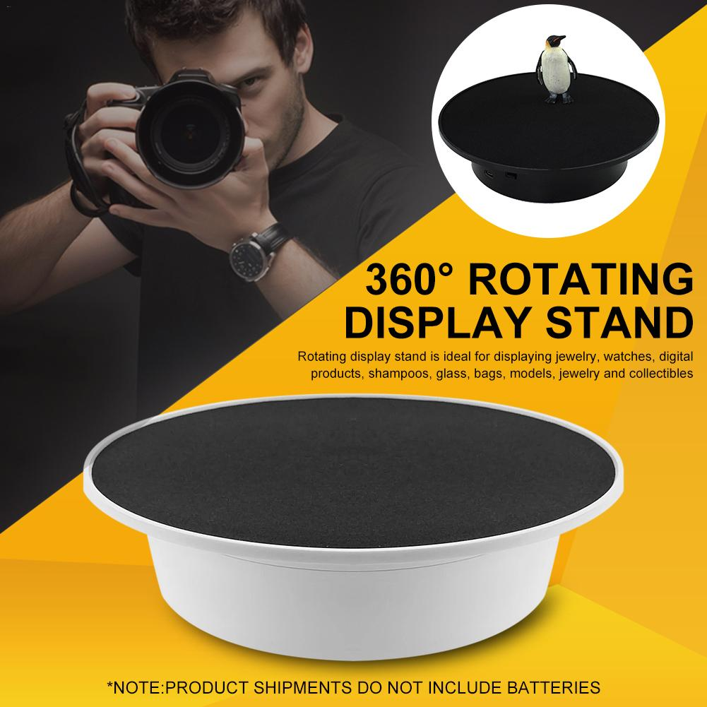 USB Display Stand Electric Turntable Take Photos 360 Degree Rotating Holder For Displaying Jewelry Watches Digital Product Model