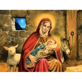 Hobby i rzemiosło majsterkowanie malowanie diamentowa ścieg krzyżykowy noworodki 5D robótki mozaika pełna kwadratowa haft diamentowy tanie i dobre opinie NoEnName_Null Obrazy PAPER BAG Pojedyncze Żywica Portret Zwinięte 1-30 Plac Nowoczesne