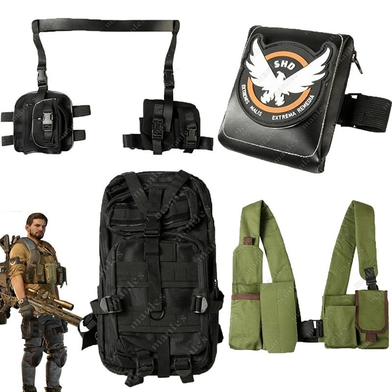 Dynamic Tom Clancy's The Division Game Costume Aaron Keener Cosplay Carnival Adult Halloween Only Bag Shirt Backpack Party Accessories For Sale