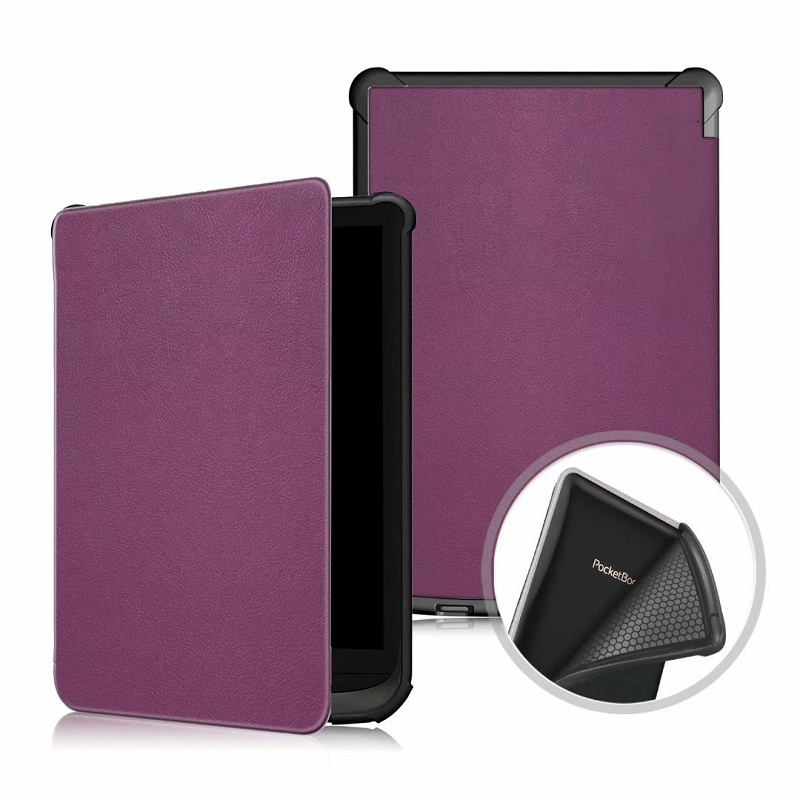 Solid Cover for <font><b>PocketBook</b></font> Touch Lux 4 <font><b>616</b></font> Ultra Slim Smart PU Leather Case funda for <font><b>PocketBook</b></font> 627 632/Basic Lux 2 Case image