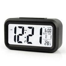Digital Alarm Clock with LCD temperature display