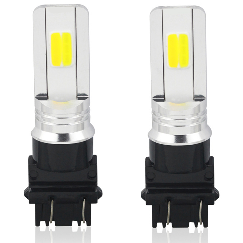 Painstaking 30w T25 3157 Cob Two-color Car Brake Headlight Fog Light Led Turn Signal Fash Light White In Yellow Fashionable Style;