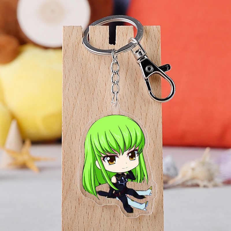 Anime kodu Geass anahtarlık japon karikatür GAIDEN Lelouch akrilik şekil araba anahtarlık zinciri kolye anahtarlık takı hediye