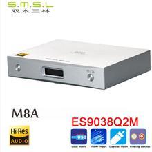 New SMSL M8A ES9038Q2M 32Bit/768kHz DSD512 DAC USB/Optical/Coaxial/ input XMOS USB Decoder humanized operation lusya xl1 xmos u8 asynchronous usb module i2s output dsd pcm upgrade dac decoder