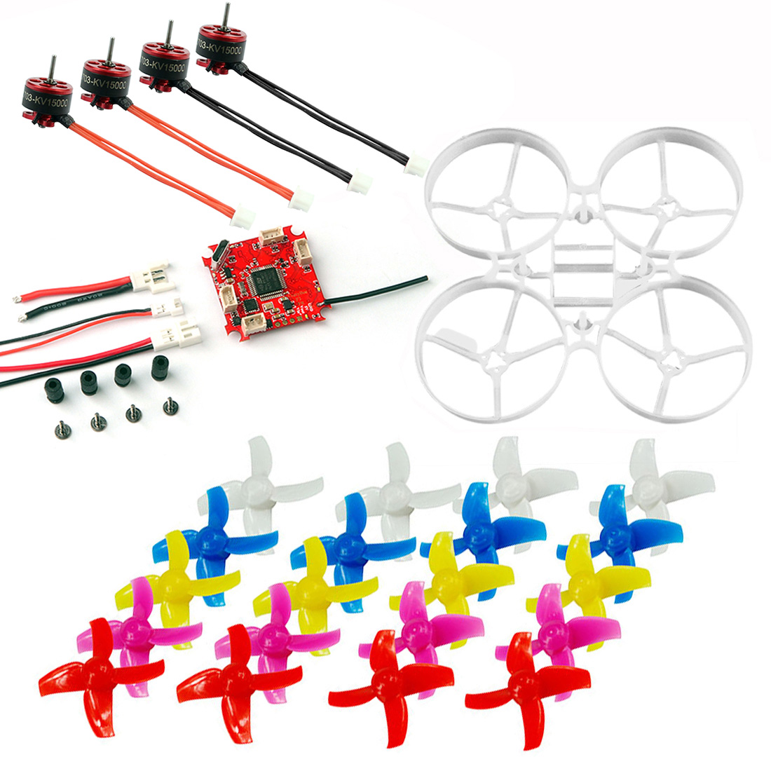 Bescheiden 75mm Innen Bwhoop Racer Drone Mini Rahmen Kit & Crazybee F3 Bürstenlosen Esc & Se0703 Motor & 40mm Propeller Sammeln & Seltenes