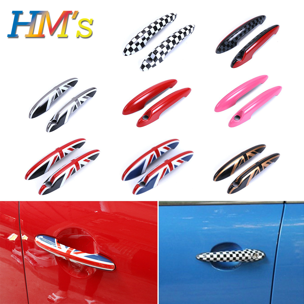 For MINI Countryman Clubman Door Handle Sticker Decals For MINI Cooper R55 R56 R57 R58 R59 R60 R61 Car Styling Accessories
