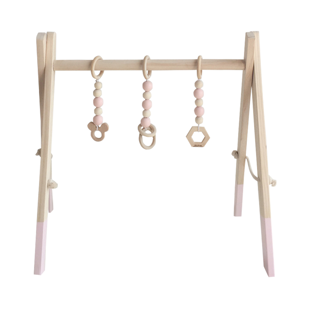 Baby Activity Playing Equipment Fitness Wooden Ring pull Frame Multi bracket Toddler Educational Toy WXV Sale in Decorative Shelves from Home Garden