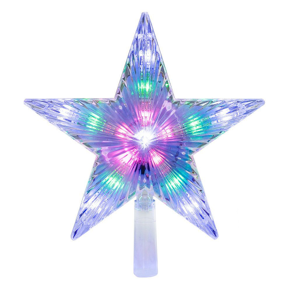 22cm(8.7inch) 8 Flashing Modes LED Pentagram Star Light Water Effect Star Light Christmas Tree Top Decoration 31LEDs D25