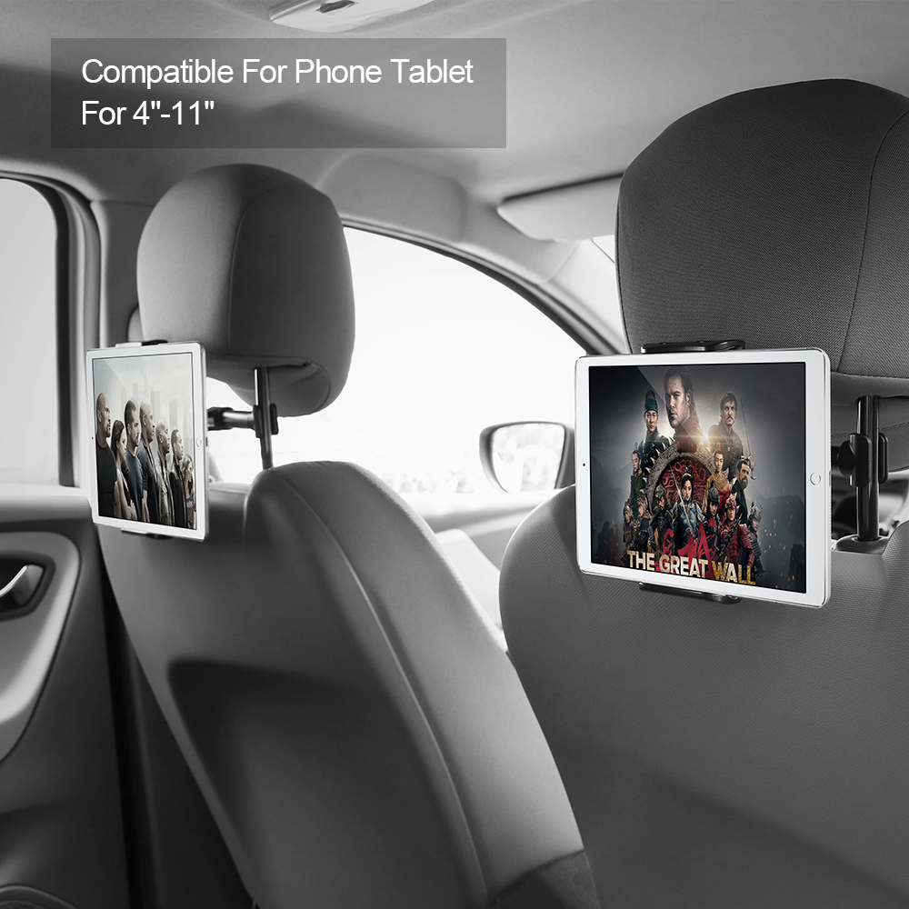 3 2 1 FLOVEME Universal Car Back Seat Tablet Holder Stand For iPad 6 5 4 3 2 Air 2 Car Silicone Holder For iPad mini 1 2 3 Tablet (2)