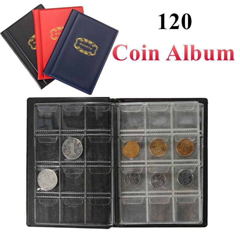 10 Page 120 Pockets Album For Coins Collection Book Home Decoration Photo Album PVC Coin Album Holders Collection Book