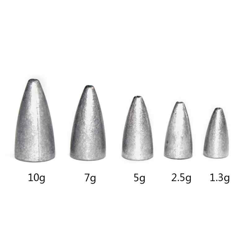 Fishing Lure Bullet Lead Bait Plumb Hollow Heart Lead Fishing Accessories  Fishing Lead Sinker Mold Olive Shaped
