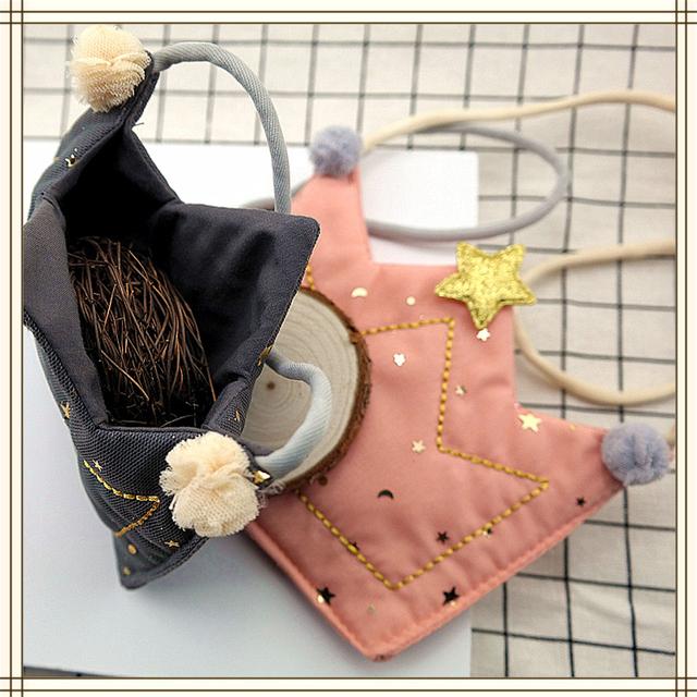 Girl Shoulder Toys Plush Bag Crown Crossbody Messenger Bags  For Girls Wallets
