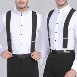 130 см плюс размер подтяжки для тяжелых мужчин брюки с 4 сильными зажимами 5 см широкие подтяжки с X-Back брюки мужские подтяжки ремень