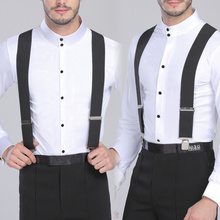 130cm Plus size Suspenders For Heavy duty Men Pants With 4 Strong Clips 5cm Wide Braces  X-Back Trousers Man Strap