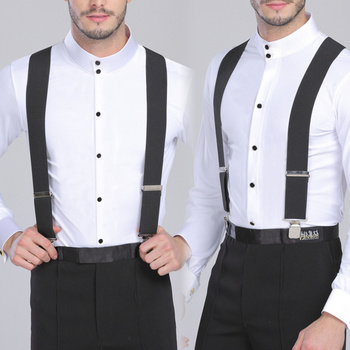 130cm Plus size Suspenders For Heavy duty Men Pants With 4 Strong Clips 5cm Wide Braces With  X-Back Trousers Man Braces Strap