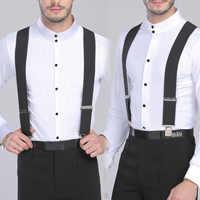 130cm Plus size Suspenders For Heavy duty Men Pants With 4 Strong Clips 5cm Wide Braces With X-Back Trousers Man Braces Strap