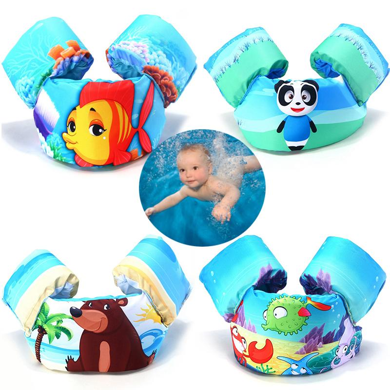 1 Pcs Cute Animal Children's Arm Ring Buoyancy Vest Foam Floating Pool Safety Vest Jacket Baby Clothes For Swimming Life Jacket