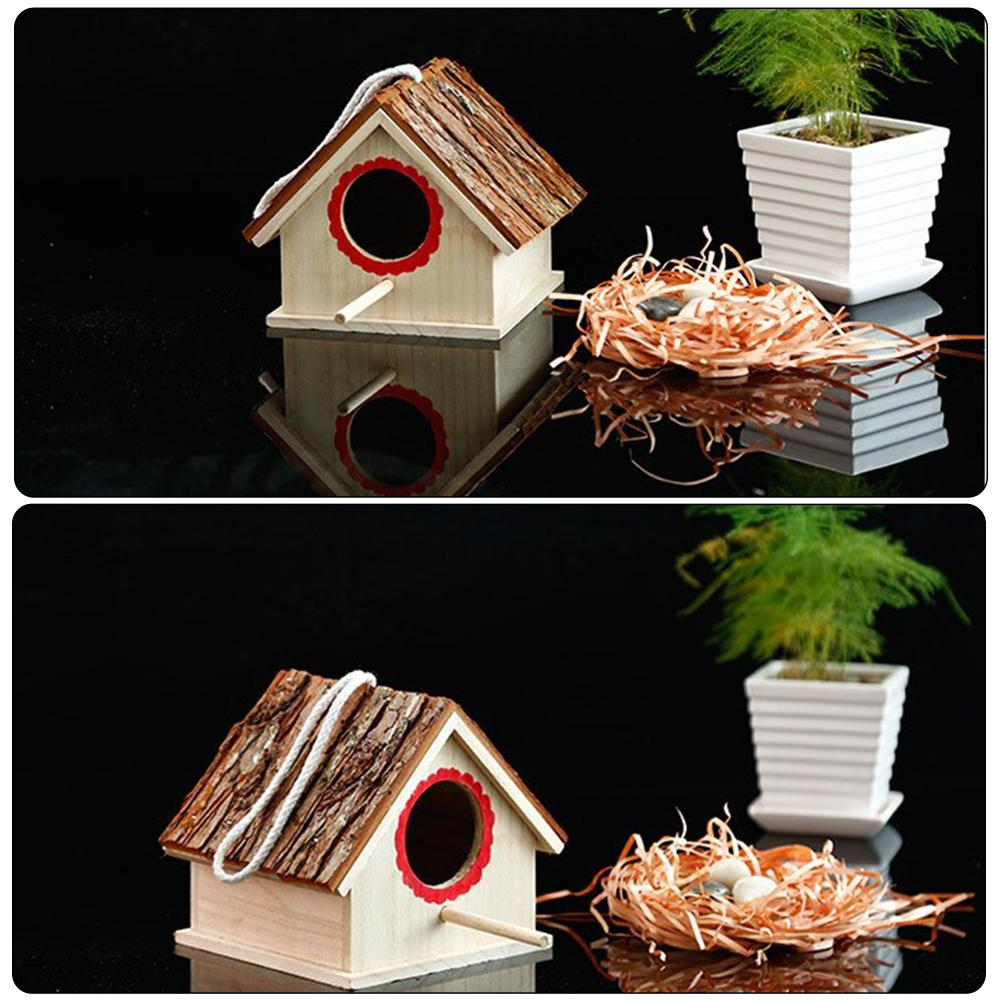 Creative Wooden Birdhouses Nest For Dove Finch Wren Sparrow Small Animal Hummingbird High Quality 2019 New in Bird Cages Nests from Home Garden