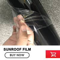 OPLARE 150 Microns Black Car Panoramic Sunroof Sticker black roof car vinyl wraps /sunroof vinyl film by