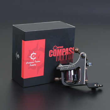 Compass Tattoo Machine Mariana Liner Samar Shader Steel Frame Coils Machine Tattoo Guns Makeup Supplies - DISCOUNT ITEM  30% OFF All Category