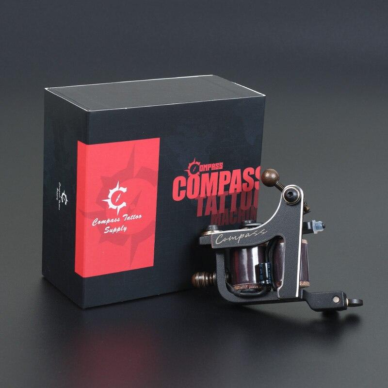 Compass Tattoo Machine Mariana Liner Shader Samar Estrutura de Aço Bobinas Máquina de Tatuagem Armas Maquiagem Suprimentos