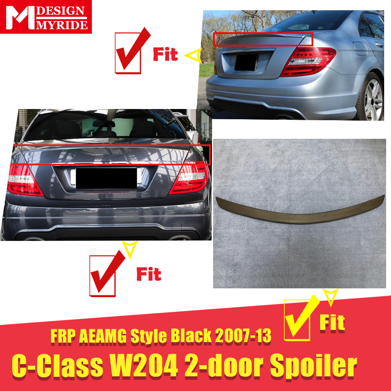 W204 2 doors Spoiler stem Wing AEAMG style FRP Primer black For C Class W204 C180 C200 C230 rear diffuser stem Spoiler 2007 2013 in Spoilers Wings from Automobiles Motorcycles
