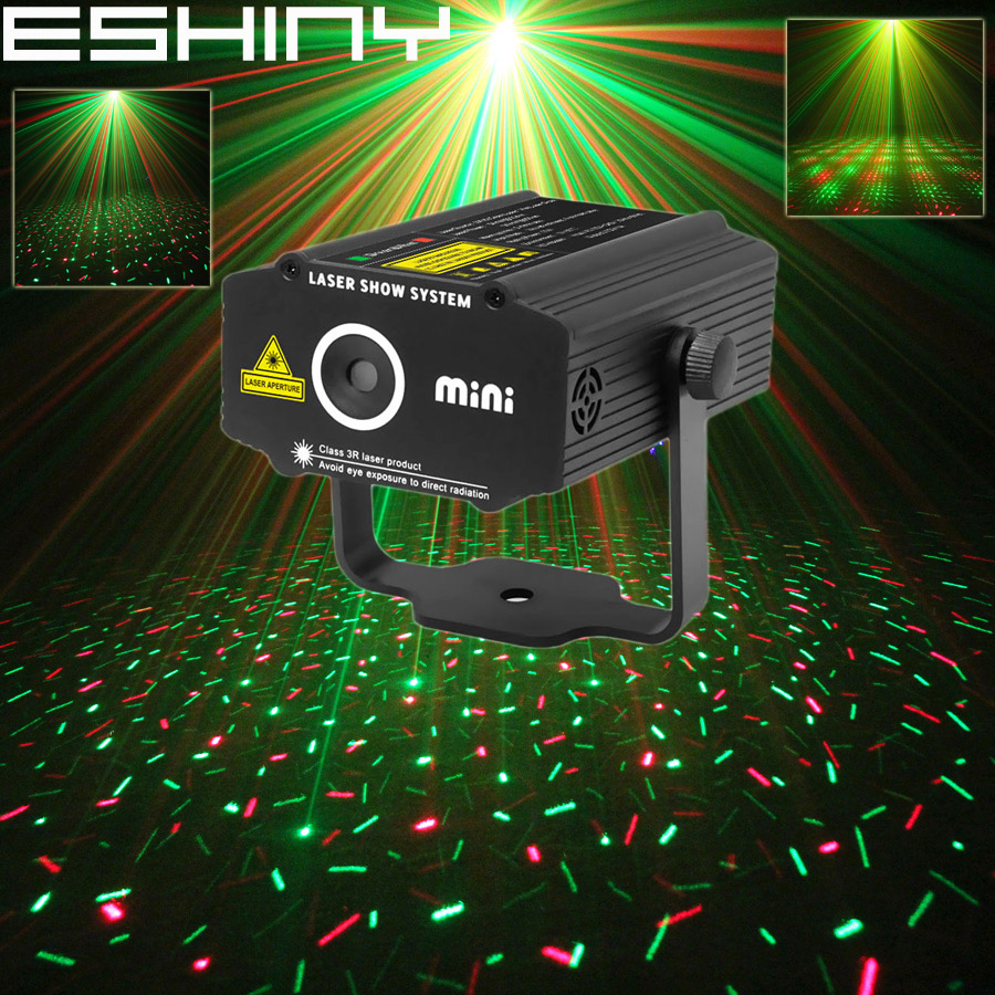 ESHINY Mini R&G Laser Projector Full Stars Sky Home Party DJ Club Dance Bar Disco Effect Xmas Stage Lighting Light Show P1D2