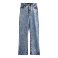 Women Spring Summer 2019 Mom Jeans Casual Loose Straight Denim Pants Boyfriends Femme Trousers Washed