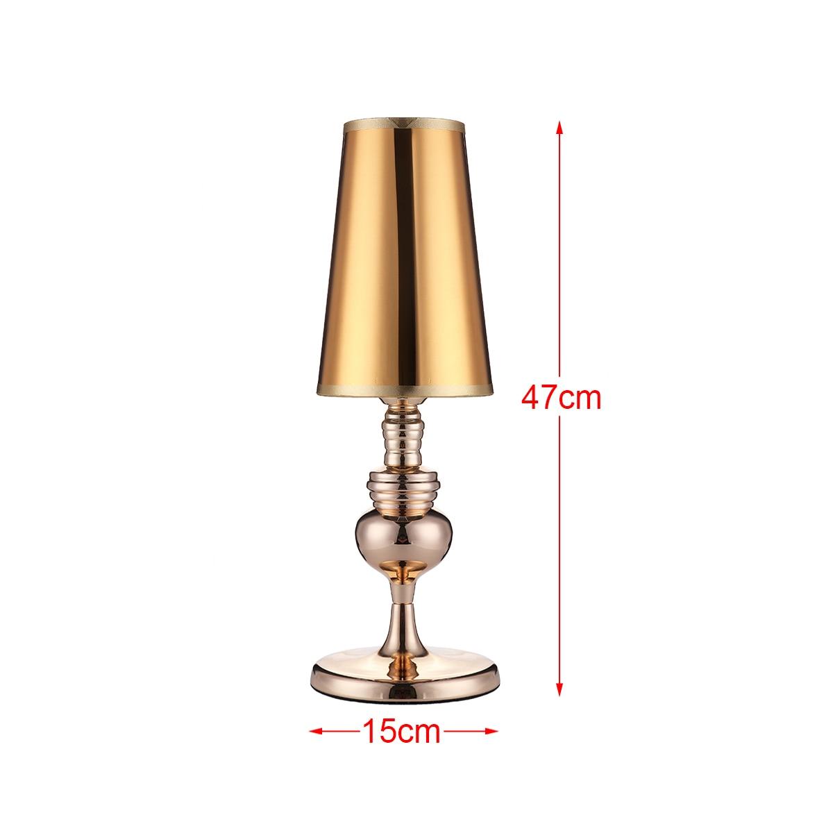 Lámpara de mesa decoración del hogar regalo luz nocturna moderna 47cm altura alta-Glos arte lámpara de noche para dormitorio lámparas de habitación de sala de estar interior