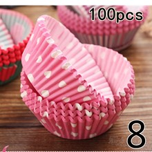 NEW 100PCS Muffins Paper Cupcake Wrappers Baking Cups Cases Muffin Boxes Cake Cup Decorating Tools Kitchen