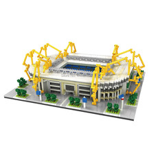 hot LegoINGlys creators city Street view Germany famous Iduna Park Football Stadium micro diamond building block brick toys gift(China)