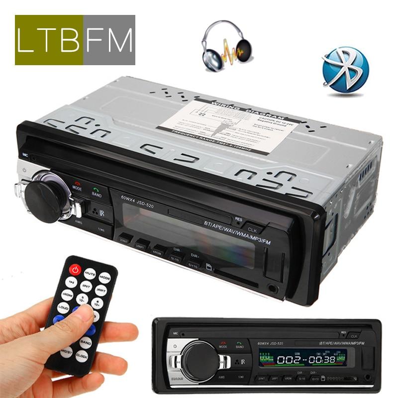LTBFM JSD 520 Bluetooth Autoradio Car Radio 1Din 12V Car Stereo MP3 Player FM AUX Input