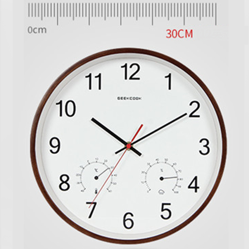 Image 2 - Geekcook 12 Inch Classic Wooden Wall Clocks Silent Quartz 