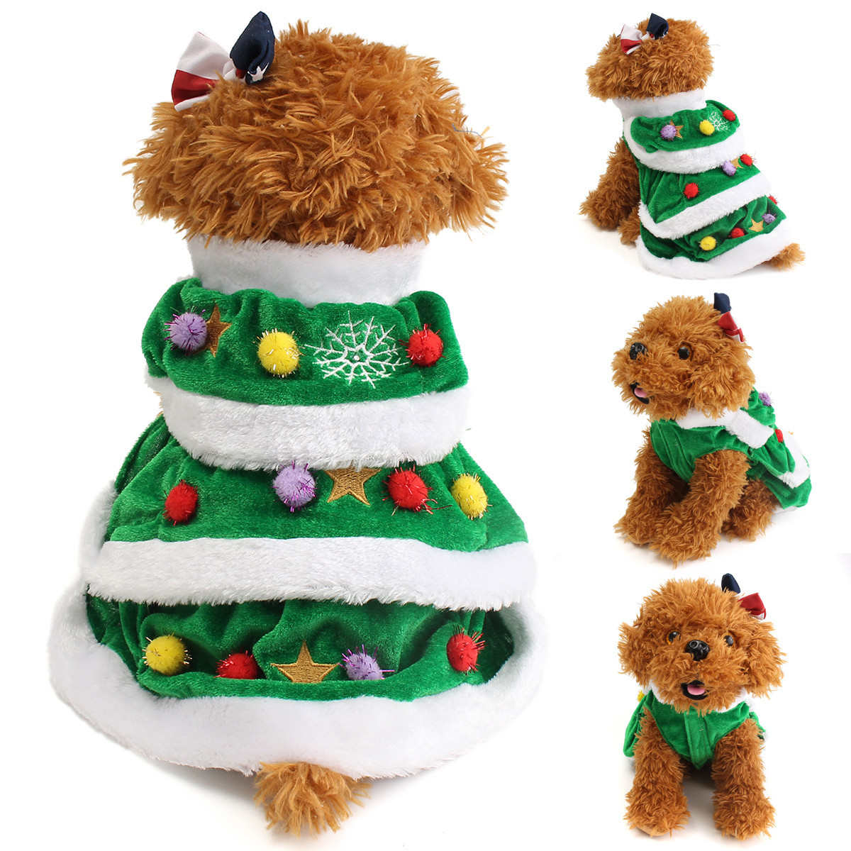 XS/S/M/L/XL/XXL/XXXL Christmas Festival Tree Pet Dog Cat Coat Puppy Warm Christmas Tree Dogs Clothes Costumes Apparel