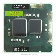 Intel Core i5-580M i5 580M SLC28 2.6 GHz Çift Çekirdekli Dört Iplik Işlemci işlemci 3W 35W Soket G1/rPGA988A
