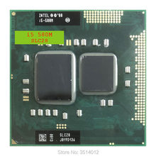 Intel Core i5-580M i5 580M SLC28 2.6 GHz Dual-Core Quad-Draad CPU Processor 3W 35W Socket G1/rPGA988A